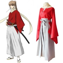 Japanese Anime Gintama Okita Sougo Cosplay Costume Kimono Uniform Outfit Adult Halloween Costumes for Women/Men S-XL