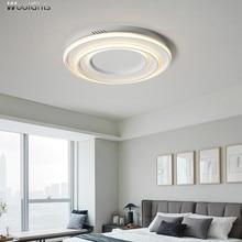 Wooights Modern Ceiling Lights for Living Room Bedroom Hall lampe ceiling avize AC85-265V Black / White Bedroom ceiling lamp