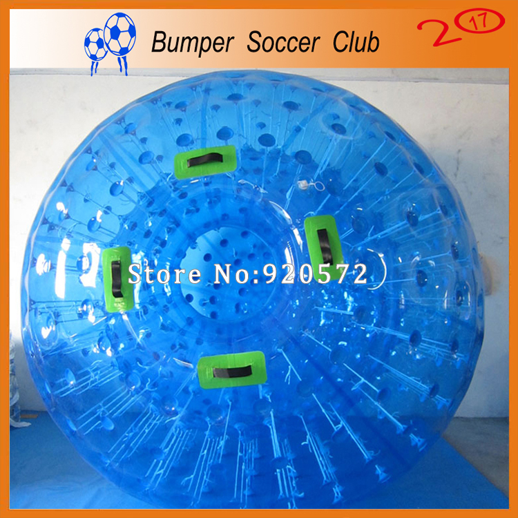 Factory Customize! Free shipping! Dia 3M Exciting Down Hill Zorb Balls Inflatable Land Zorbing Ball Blue Inflatable Zorb Ball inflatable light zorbing ball water rolling hydro body zorb ball zorb water ball inflatable glow transparent zorbing balls