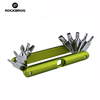 ROCKBROS 14 In 1 Bicycle Repair Tools Kits Bike Pocket Multifunction Folding Tools MTB Mountain Bike