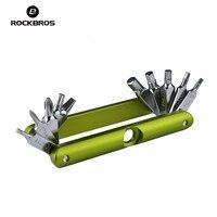 ROCKBROS 14 In 1 Bicycle Repair Tools Kits Bike Pocket Multifunction Folding Tools MTB Mountain Bike