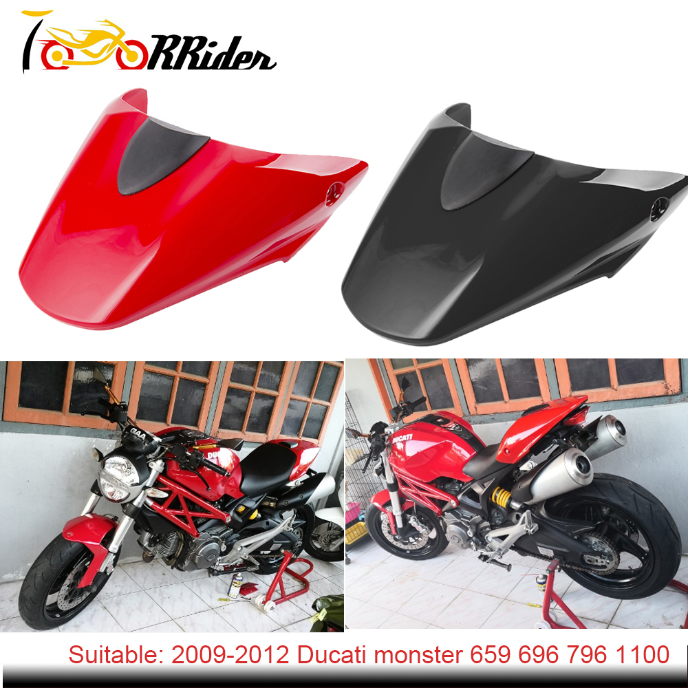 Motorcycle Rear Pillion Passenger Cowl Seat Back Cover For 2009-2012 Ducati 796 795 M1100 696 2010 2011