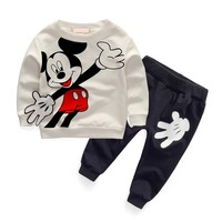 New 2016 Newborn Baby Boys Clothes Sets Spring Kids Boy Cartoon Outfit Casual Cotton Costume Baby