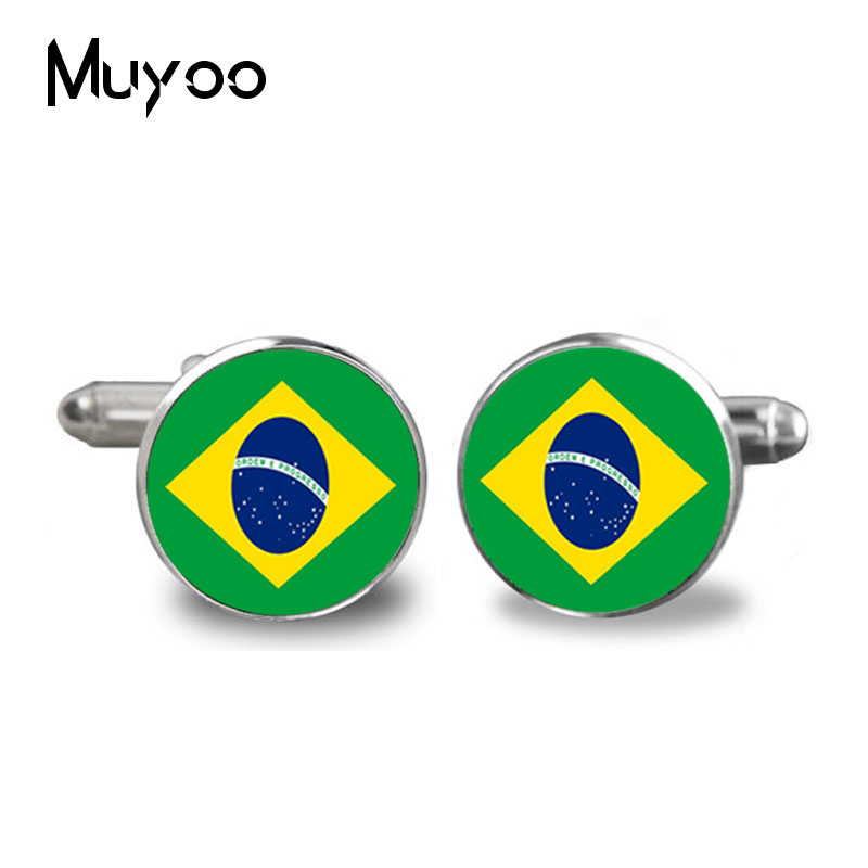 2017 Fashion Custom Wedding Brazilian flag cufflinks Mens Cufflinks . cuff Boys Honor Gift The best is yet to be aging with me image