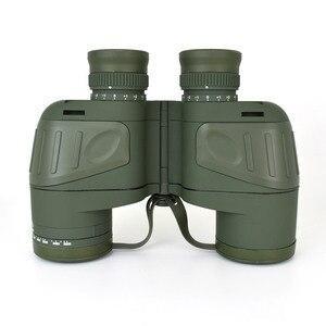 Image 2 - 10X50 Optics Militaire Verrekijker Telescoop Waterdicht Schokbestendig Spotting Scope Met Kompas Voor Camping Reizen Jacht Boshiren