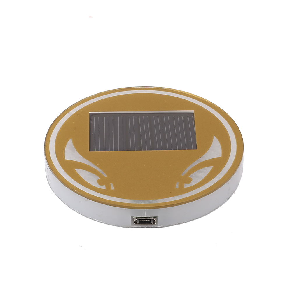 Anti-slip Mat Systematic Vehemo Universial Car Truck Interior Solar Energy Cup Pad Trim Led Light Lamp Vivid And Great In Style