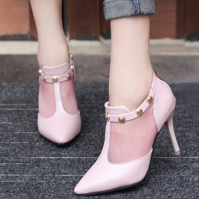 2016 Woman High Heels Pumps Thin Heel Women'S Shoes Pointed Toe High Heels Wedding Shoes Brand Fashion Shoes pointed toe high heel pumps women wedding shoes 2017 fashion serpentine style genuine leather thin heel shoes woman high heels
