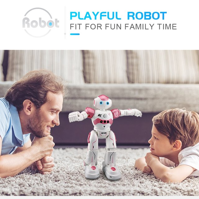 LEORY RC Robot Intelligent Programming Remote Control Robotica Toy Biped Humanoid Robot For Children Kids Birthday Gift Present 3