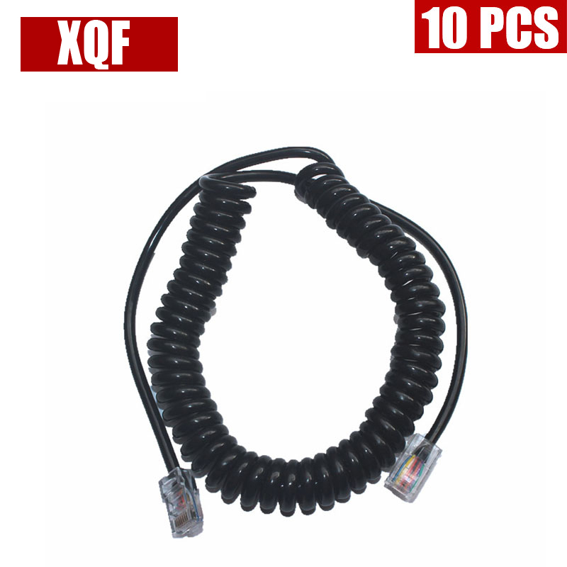 XQF 10PCS  8PIN To 8PIN Mic Cable LINE For ICOM HM-98 HM-133 HM-133V Radio Speaker
