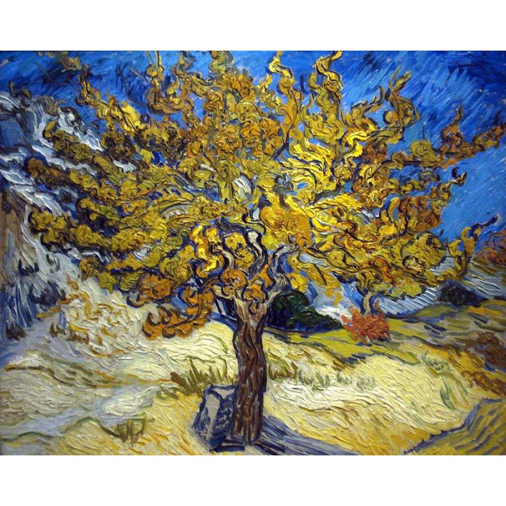 Hand Painted Trees Oil paintings by Vincent Van Gogh Canvas The Mulberry Tree in Autumn modern art  High quality home decorHand Painted Trees Oil paintings by Vincent Van Gogh Canvas The Mulberry Tree in Autumn modern art  High quality home decor