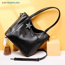 Luxury Women Summer Shoulder Bags Female Genuine Leather 2019 Big Womens Handbags Large Soft  Designer Tote Crossbody Black