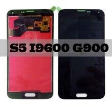 For Samsung Galaxy S5 i9600 G900F G900M G900P/T/V Display LCD Screen Touch Digitizer Sensor Glass Panel Assembly + Adhesive+kits цена