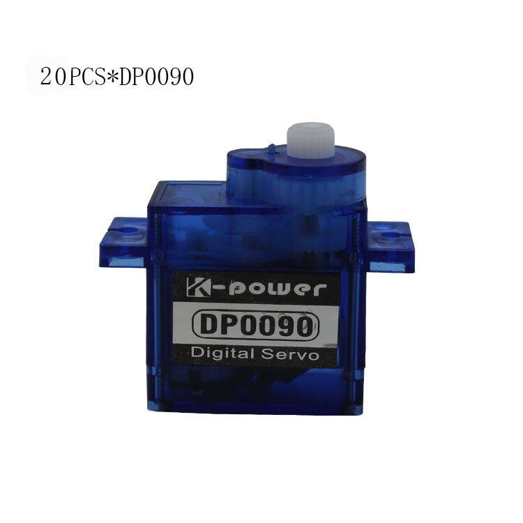 20 pièces k-power DP0090 9g 360 Degrés Rotation Continue En Plastique Micro Servo POUR avion RC/hélicoptère/RC Robot