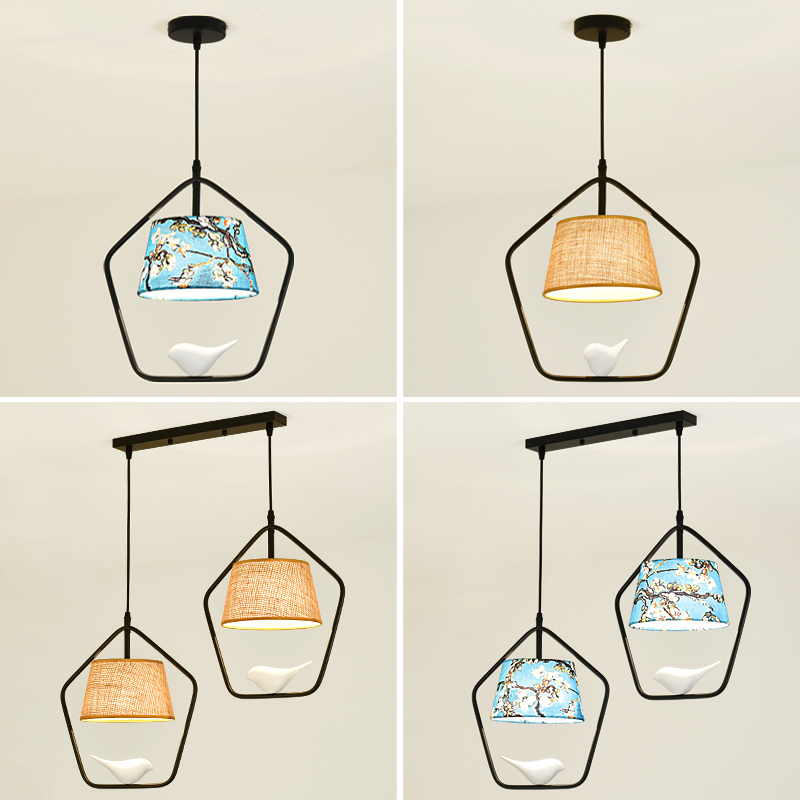 American aisle Home Restaurant pendant light balcony modern minimalist Scandinavian birds hanging lamp entrance lamps ZA71017 the scandinavian home interiors inspired by light