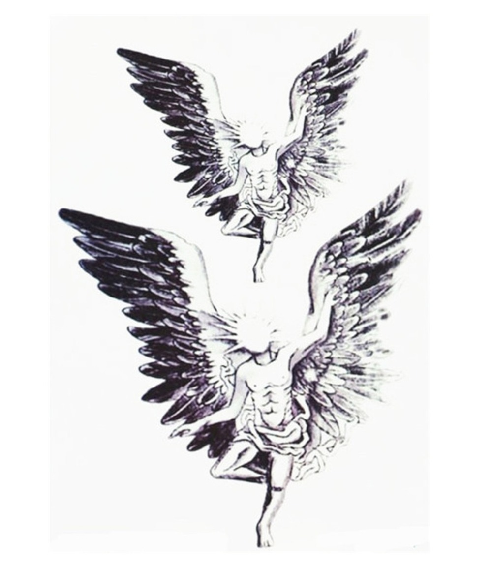 US $1.22 12% OFF|Angel Wings Tattoo Fashion Angel Tattoo Stickers New Water  Transfer Waterproof Temporary Tattoo Sticker Body Art New Product-in ...