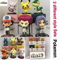 Set of  6 Anime Coming 2016 World Pikachu Figure Chamander Meowth Eevee PVC Action Figure Collection Model Kids Toy Doll 9cm