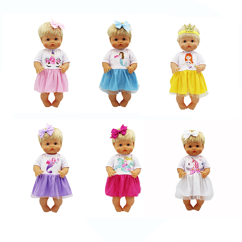 Candy Color Dress Set Doll Clothes Fit 42cm Nenuco Doll Nenuco Su Hermanita Doll Accessories