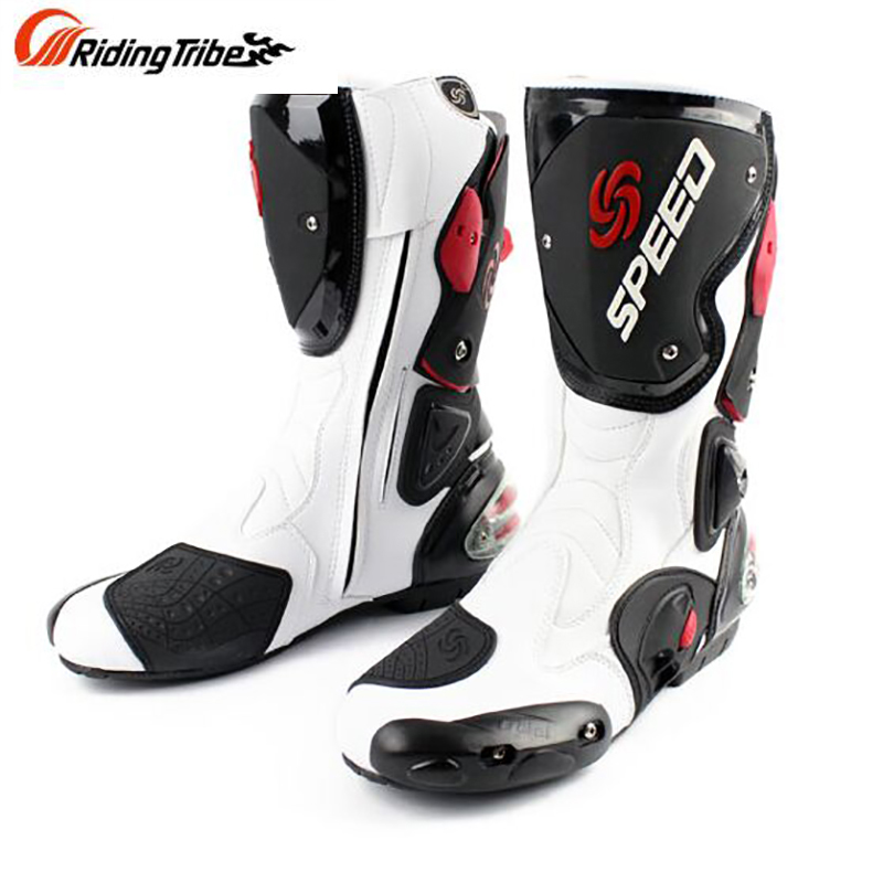 Bottes de moto en cuir microfibre pour hommes bottes de vélo de saleté bottes de moto de course de vitesse bottes de Motocross BOTA B1001 taille: 40 45 - 2