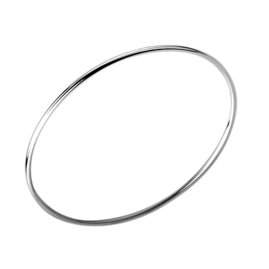 Factory direct selling silver plated personality simple singleturn bangle bracelet