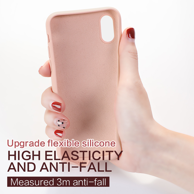 Soft TPU Case For Iphone XR XS X Max 7 Case Milk Smooth Touch Silicone Cover For Apple Iphone 6 6s Plus 7 8 Case Cover Coque