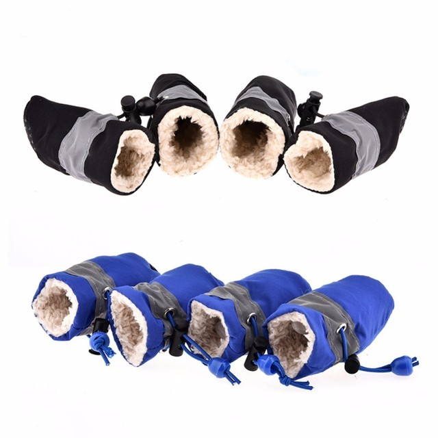 Anti Slip Rain Boots Adjustable Winter Warm For Dogs Cats