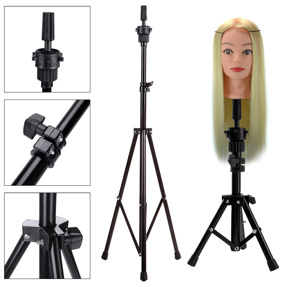 Professional 1 Set Headform Stent Prosthesis Doll Head Holder Brackets Wig Hair Model Head Tripod Bracket 998 Hair Extensions & Wigs
