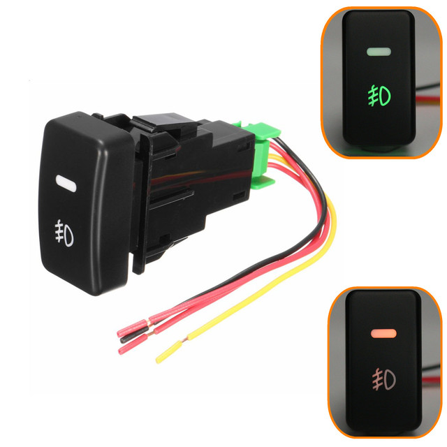 5 Pin LED Car Push Button Fog Light Switch wire For Honda /Civic ...