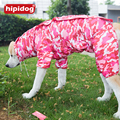 Hipidog Large Dog Camouflage Raincoat Pet Jumpsuit Dog Raincoat Clothes Appreal for Labrador German Shepherd Golden Samoyed