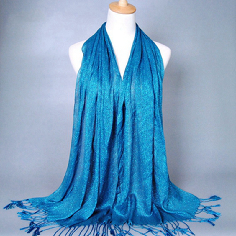 36 Colors Muslim Shawls Viscose Tassel Gold Bling Scarf Women Cotton hijab Long Solid Shawl Cashmere Head Scarf Foulard Femme in Women 39 s Scarves from Apparel Accessories