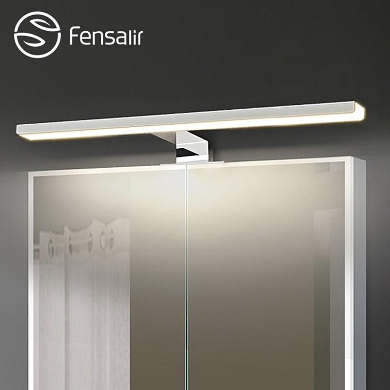 Fensalir 0-15 Вт затемнения Водонепроницаемый Алюминий + ABS + Акрил туалет в помещении макияж освещения Ванная комната светильники светодиодные зеркало, бра