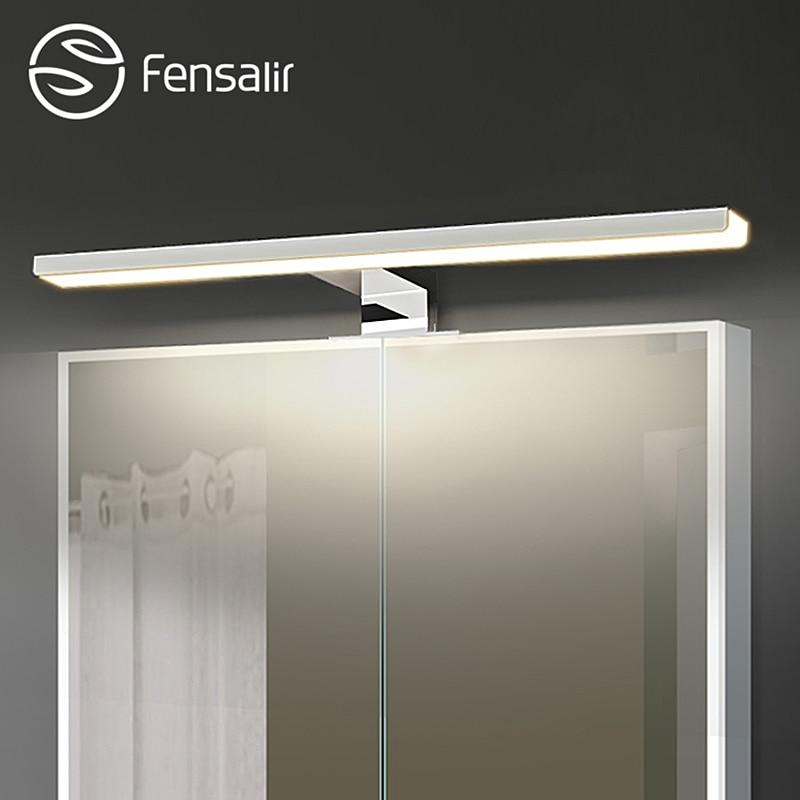 Fensalir 0-15 W Dimmable étanche En Aluminium + ABS + Acrylique toilette intérieure maquillage éclairage Salle De Bains luminaires Led lumière miroir Mur lampe