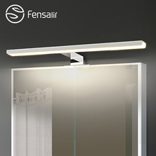 Fensalir 5W/6W Led Mirror Light Wall Mounted Bathroom Lamp AC110-220V Aluminum+ABS+Acryl 30/40/50 CM Indoor Wall Lamp ML002-300A