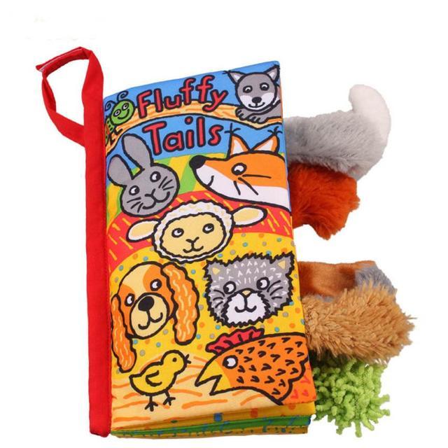Tier Fox Tails Tuch Buch Baby Spielzeug Tuch Entwicklung Bücher