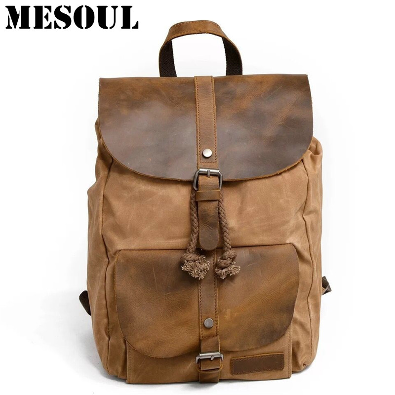 2017 Men Male Canvas Backpack Vintage Student School Backpack Bags for Teenagers Computer bag Boy Casual Rucksack Travel Daypack men canvas 15 inch notebook backpack multi function travel daypack computer laptop bag male vintage school bags retro knapsack