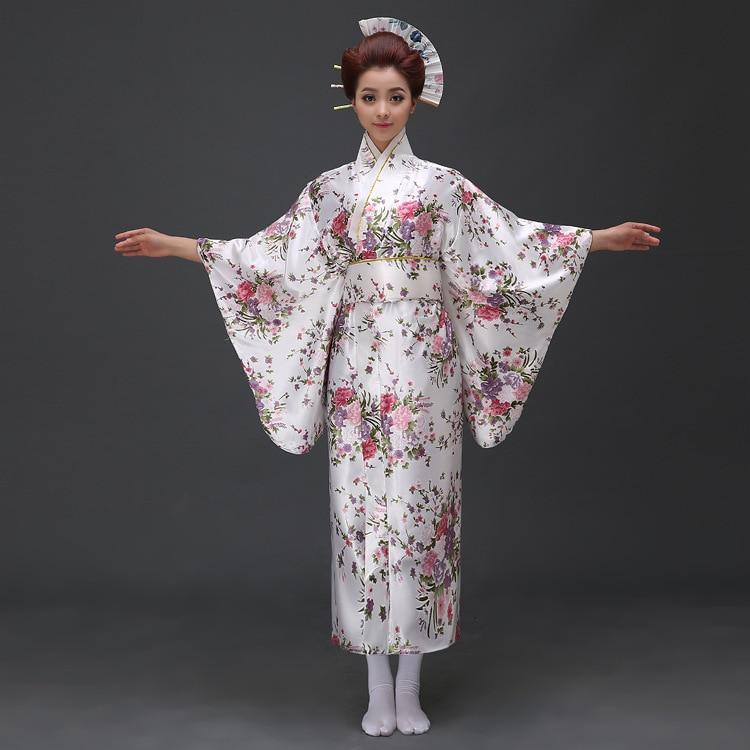 Nye Ankom Kvinner Japansk Kimono Tradisjonell Kostyme Kvinne Yukata - Nasjonale klær - Bilde 4