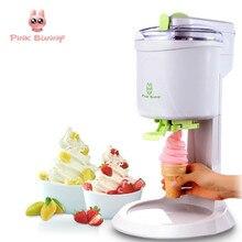 купить Pink Bunny Machine Icecream Fully Automatic Mini Fruit Ice Cream Maker For Home Electric DIY Kitchen Maquina De Sorvete For Kids дешево