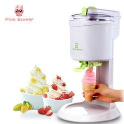 Rosa Coelho Máquina de Sorvete Totalmente Automática Mini Fruit Ice Cream Maker Para Casa DIY Elétrica Cozinha Maquina de Sorvete Para crianças
