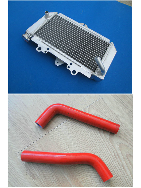 For Yamaha YFZ450 YFZ 450 Aluminum Radiator & YELLOW hose 2004 2005 2006  2007 2008-in Radiators & Parts from Automobiles & Motorcycles on