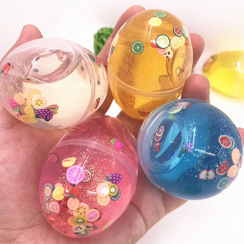 Mucus Egg Plasticine DIY Slimes Crystal Mud Slime Additives  Soft Clay Color Mud Transparent  Children's Educational Toys Gift