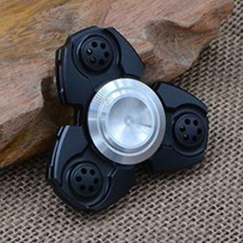 ФОТО Hand Spinner Fidget EDC Spin Aluminum Custom Bearing Fidget Toys Black