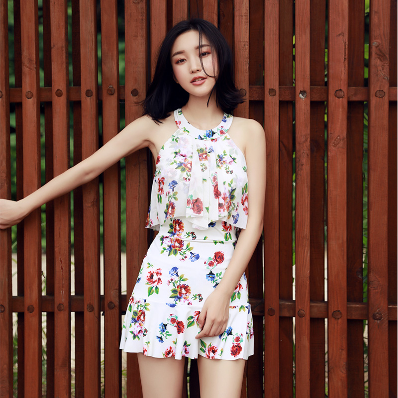 NIUMO New One-piece bathing suit gathered A holiday Hot springs Bathing suit swimming Female flowers a bathing ape футболка от a bathing ape 76890