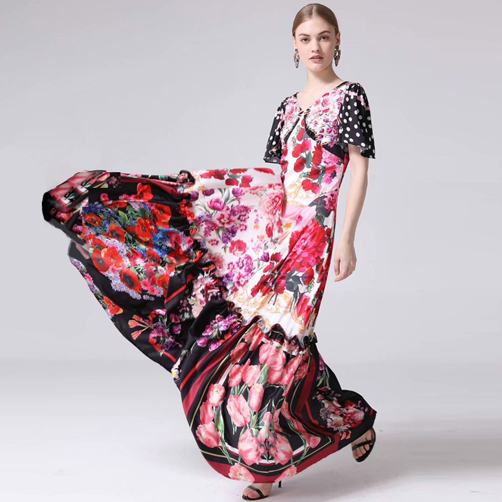 discount Summer Print Robe