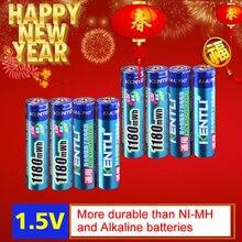 KENTLI 8pcs no memory effect 1.5v 1180mWh AAA polymer lithium li-ion rechargeable batteries aaa battery