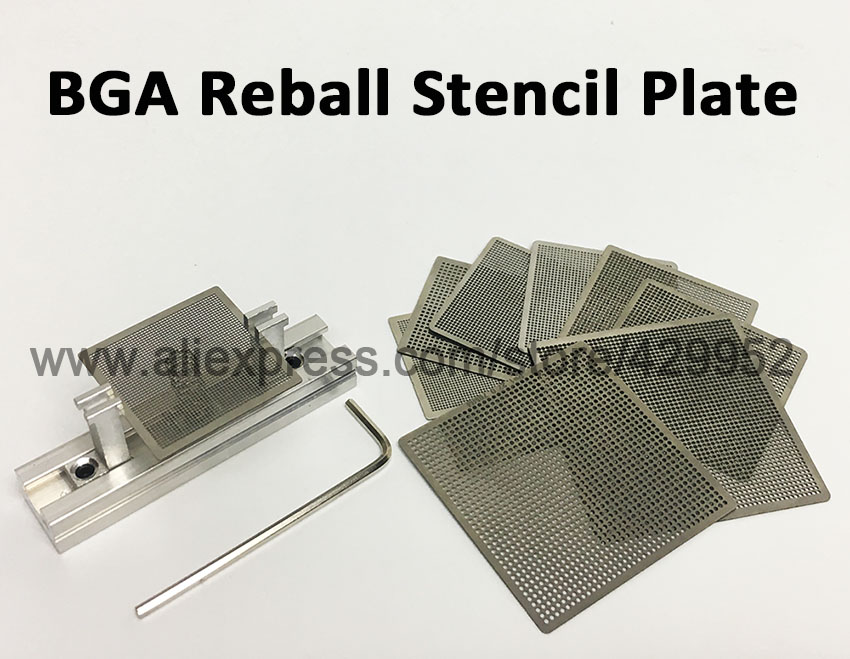 Universal Heating BGA Reballing Stencils with Holder  For IC Chip Rework Repair Soldering KitUniversal Heating BGA Reballing Stencils with Holder  For IC Chip Rework Repair Soldering Kit