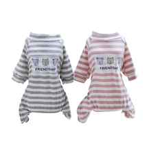 Sweet Casual Pet Dog Jumpsuit Clothes Coverall For Cute Small Winter Warm Pajamas Puppy Poodle