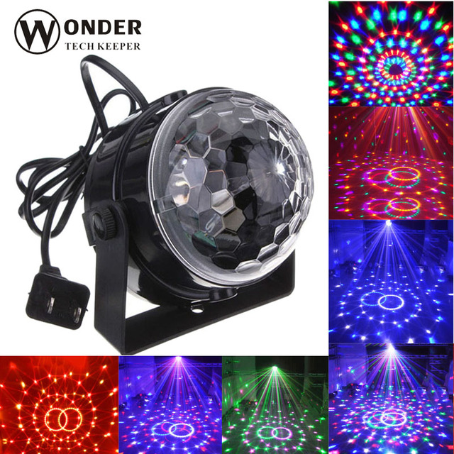 LED Dancing Spotlamp Colorful LED Mini RGB bulbs Ball Stage Crystal Magic lights for Disco DJ Dancing Party celebrations multi c