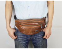 Geniune Leather Belt Bag Men Retro Multifunction Waist Bag Waterproof Fanny Pack for Man Travel Mobile Phone Pouch Chest Pack
