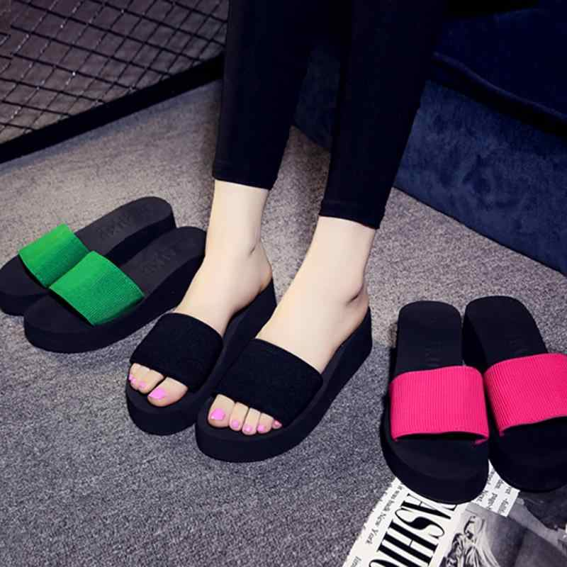 Summer Womens Shoes Platform Bath Slippers Wedge Beach Flip Flops Slippers Shoes
