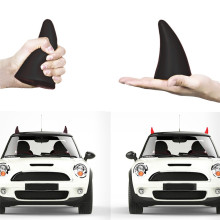 2PC NEW 3D Car Sticker Cute Little Demon Horn Devil 3M  Styling Anti Collision Creative-Black Free Shipping