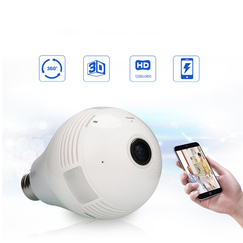 1080P High Definition Lamp Type 360 Degree Panoramic Network Camera Smart Home Futural Digital JULL12 нивелир ada cube 2 360 home edition a00448
